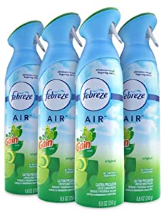 Febreze AIR Effects Air Freshener with Gain Original Scent, 8.8 oz (Pack of 4)