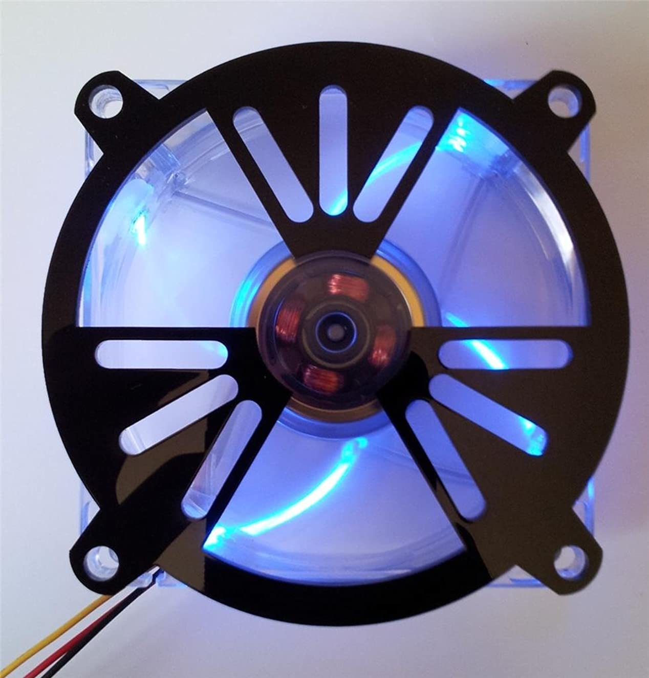 Custom Acrylic Nuclear Radiation Symbol Computer Fan Grill 120mm