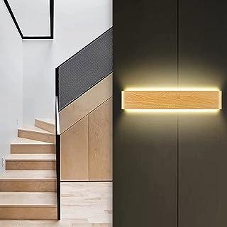 Lovebay 20W Applique Murale Interieur Bois 3000-6000K Lampe Murale Led Moderne Up Down Luminaire Mural pour Chambre, Salo...