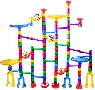 Marble Run Set 122 Pcs - Construction Building Blocks STEM Toys for 4 5 6 7 Year Old Boys Girls Kids
