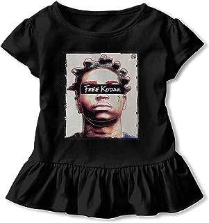 6-24 Month Baby T-Shirt Vintage Unique Children's T-Shirt Pants Free Kodak Logo Black 4T