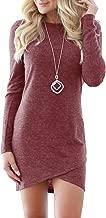 CNJFJ Womens Bodycon Mini Dress Sexy Stretchy Crew Neck Wrap Club Short Dress