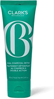 Clark's Botanicals Dual Charcoal Detox Anti-Pollution Scrub: Cleanser, Exfoliant and Mask Combo to Brighten and Purify Ski...