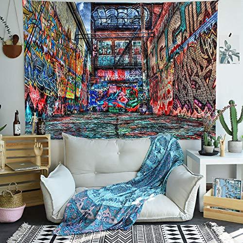 Arte de la calle Fondos de pantalla Tapiz Serie Graffiti Tapices artísticos para colgar en la pared para sala de estar Dormitorio Decoración de manta para el hogar 150x100CM