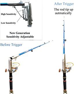 Smart Kingfisher 2.1m Automatic Fishing Rod Bait Biting Will Trigger and Tip-up The Rod to Hook The Fish Automaticaly. Powerful Spring