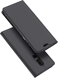 OnePlus 6 DUX DUCIS Skin Pro Series Leather Case Cover - Dark Grey