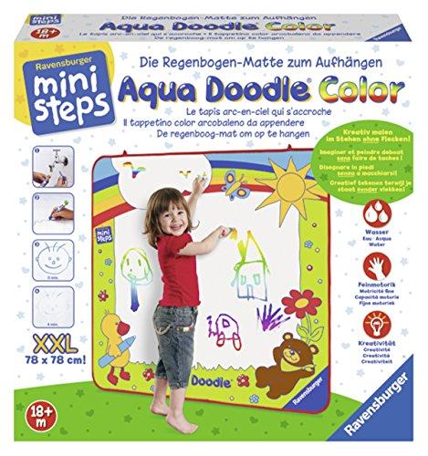 Ravensburger ministeps Aqua Doodle XXL Color - 04493 / Malmatte zum Aufhängen für kreativen Malspaß ab 18 Monate - ohne Flecken auf Wänden