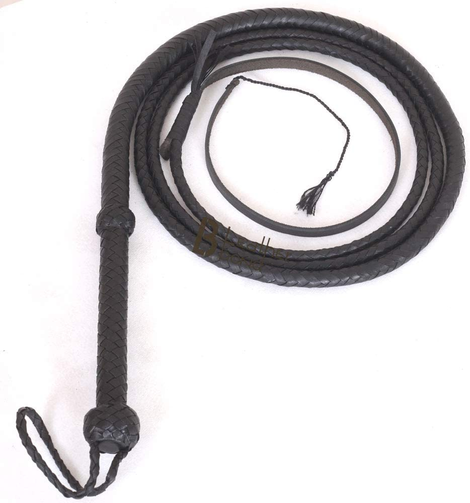 Indiana Jones Style Bull Whip 4 New life Foot 8 Plaits Real Cow Hide Leat Courier shipping free shipping