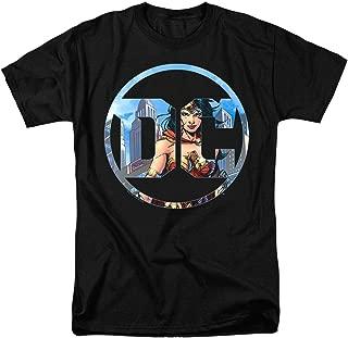 Wonder Woman DC Comics Logo T Shirt & Stickers