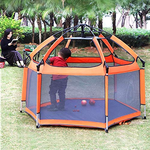 Playpen Baby, Foldable and Portable Play Yard for Baby Toddlers, Large Activity Centre Indoor&Outdoor Safe Playard with Breathable Mesh and Storage Bag, for Children 0 Years~6 Years Old