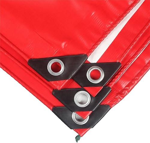 Baches Sous-couche de tente de bache multifonctionnelle de bache résistante rouge d'ombre extérieure pour camper et extérieur, épaisseur 0.45mm, 500g   m2 Couverture de piscine (taille   3MX2M)