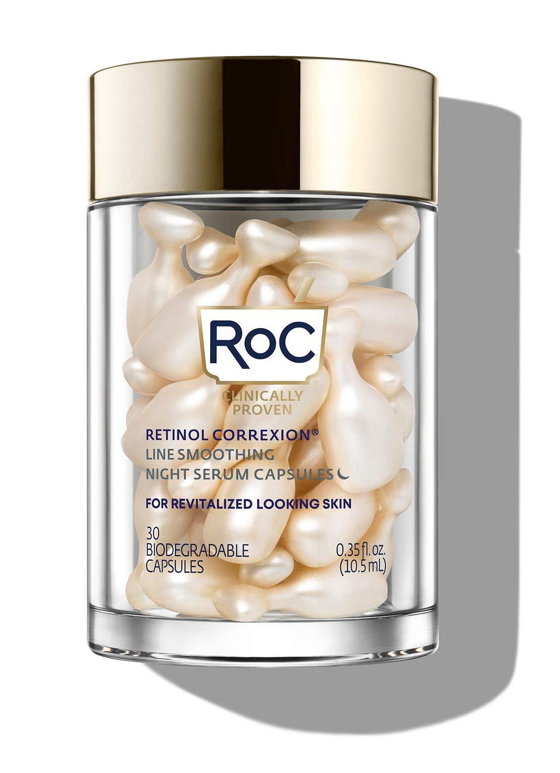 RoC Retinol Correxion Line Smoothing Night Retinol Serum 30 Capsules, unscented, 0.35 Fl Oz