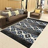 MEICHENG-DZ Weich Teppich, Teppich-Sets, Antirutschmatte, Blau schwarz -160 * 230cm gemütlich...
