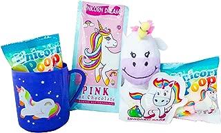 Unicorn Christmas Gift Set - Hot Chocolate, Marshmallow, Mug, Plush and Candy - Best Easter Basket, Christmas, Birthday Present - Gift for Girls, Imaginative and Fun Gift Basket