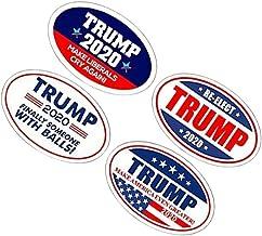 LIOOBO 4pcs 2020 Trump Fridge Magnets Oval Magnets Republican Magnets Donald Trump 2020 Decorations for Refrigerator Car