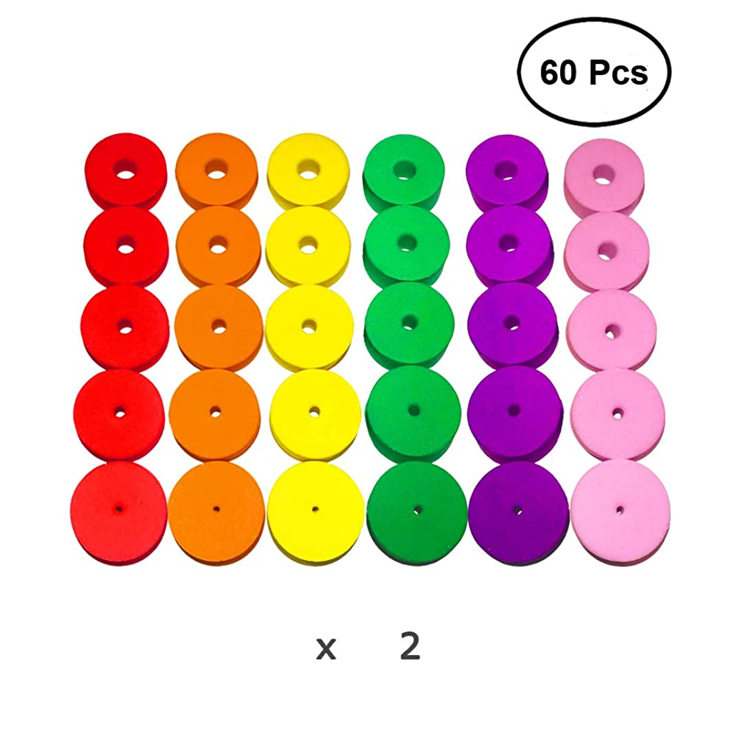 Colorful D-Rings & Stitch Rings with Hook Markers & Knitting Stoppers Needles Stoppers for Knitting/Crochet/etc, Knitting Accessories (Stopper-E)