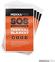 MEKKAPRO Emergency Mylar Thermal Blankets (4-Pack), Pocket Sized for Emergencies, Camping, Outdoors, Hiking, Survival, First Aid