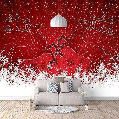 Riesenplakat - Hirsch Silhouette - Tapete Wandbild Bild Fototapeten Wandtapete Wanddeko 3D HD Wandtapete Haus Dekoration -280x200cm (110X78 inch)