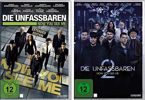 Die Unfassbaren - Now You See Me 1+2 im Set - Deutsche Originalware [2 DVDs]