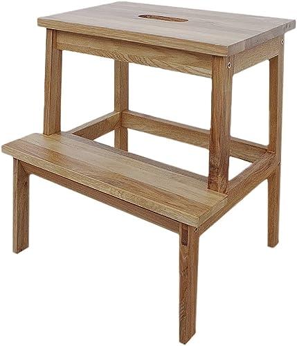 GAIXIA-Tabouret Multifonctionnel 2 avec tabouret échelle tabouret voitureré tabouret de table en bois massif adulte ménage portable portable escabeau tabouret enfant