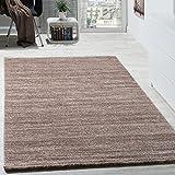 Paco Home Teppich Kurzflor Modern Gemütlich Preiswert Mit Melierung Braun Creme Beige, Grösse:120x170 cm