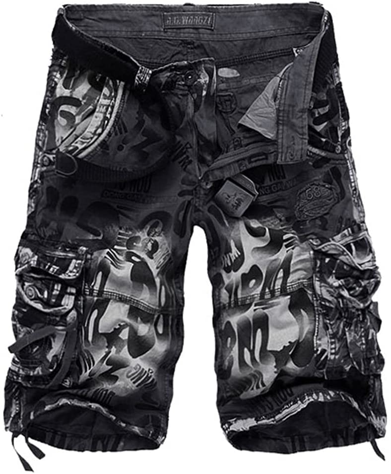 WJCCY 2021 Men Summer Cargo Shorts Jeans Male Fashion Casual Baggy Denim Shorts 30-42 (Color : A, Size : 36)