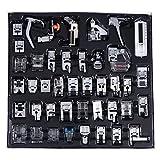 Prensatelas para coser, 42 piezas/set, piezas de máquina de coser multifunción, trenzado, puntada invisible, prensatelas para zurcir, pies