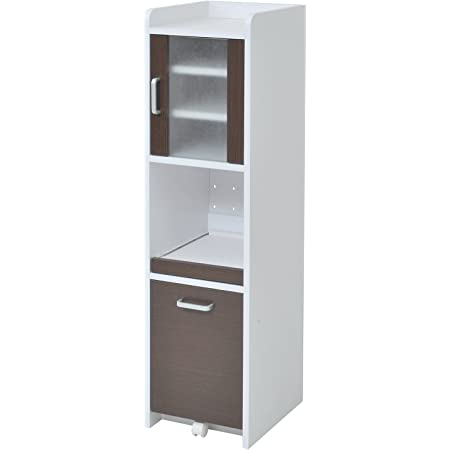 JKプラン 食器棚 ホワイトダークブラン 32.5×42.5×124cm FKC-0645-WHDB