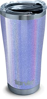 Tervis 1312259 Shimmer Silver Violet Stainless Steel Insulated Tumbler with Lid, 20 oz