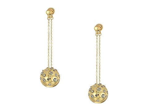 HOUSE OF HARLOW 1960 Mod Dangle Earrings, Gold