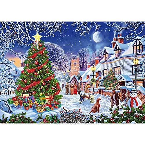 Christmas Diamond Painting,Full Drill 5d Diamond Painting Kits for Adults Kids,Christmas Tree Diamond Painting Kit for Home Wall Decor Gift(Diamond Painting Christmas,16x20Inch)