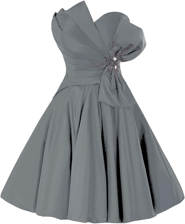 Bess Bridal Women′s Short Mini Taffeta Prom Homecoming Dress with Bow