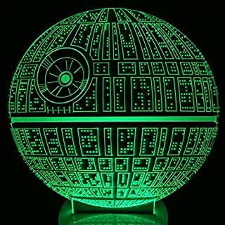 MeiTuKanKan 3257 the Force Awakens Multi-Colored Table Lamp 3D Death Star Bulbing Light for Star Wars Fans