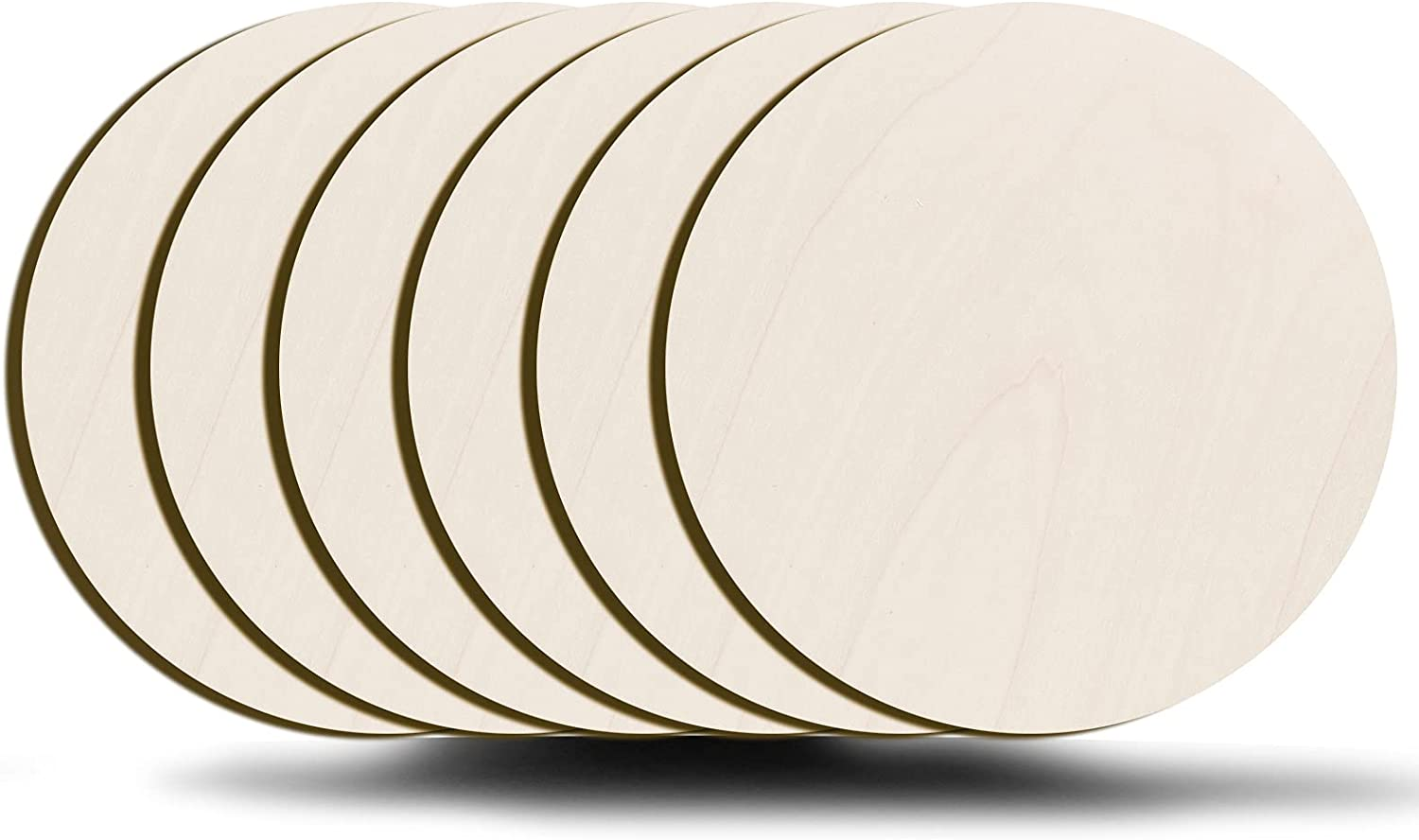 wartleves Unfinished Wood Circles for Crafts 12 Inch Ranking Max 75% OFF integrated 1st place 6 Unifo Pcs