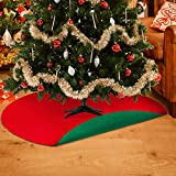 RUODON Christmas Tree Mat Waterproof Tree Stand Mat Christmas Tree Floor Protector Absorbent Tree Stand Tray Mat for Floor Protection Christmas Holiday Home Supply, 36 Inches (Red and Green)