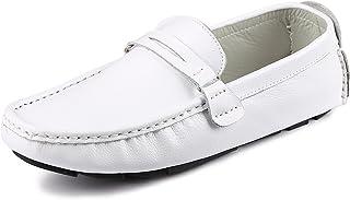 CCZZ Homme Doux Cuir en Conduite Chaussures Confort Mocassin Chaussures Penny Loafers Casual Bateau Chaussures de Ville Fl...