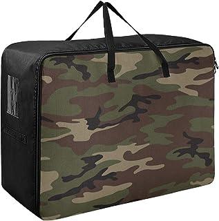 N\A sous Le lit de Stockage armée Camouflage Chambre vêtements Organisateur 70 X 50 X 28 cm Couette Couvre-lit Oreiller Ba...
