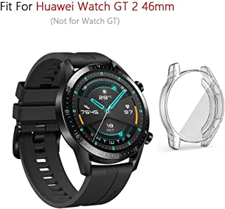 M.G.R.J® Soft & Flexible Full Covered TPU Case Cover for Huawei Watch GT 2 46mm (Sport/Classic/Elite Edition) (Transparent)