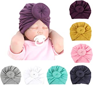 Baby Girl Hat with Rabbit Ears Bow Knotting Hat Toddlers Soft Variety Knotted Hats Dount Cap