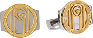 Diamond Moon Stainless Steel Cufflinks for Men, Stainless Steel - 1800541240455
