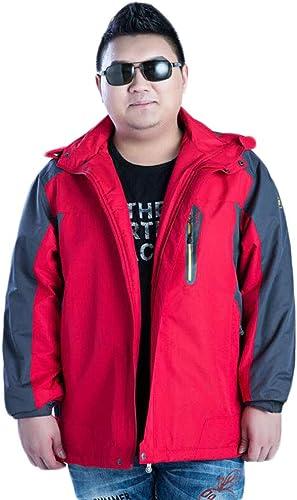 DAFREW Veste de Montagne pour Hommes, Manteau d'hiver de vêtements Chauds Coupe-Vent pour Alpinisme, Grande Taille (S-4XL) (Couleur   rouge, Taille   4XL)