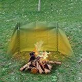 KOSIEJINN Parabrisas Plegable para Camping Viento De La Pantalla Comping Stove Protector Portátil Al Aire Libre Cocina Estufa de Gas Escudo Pantalla de Viento para La Comida Campestre del BBQ (S)
