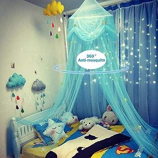 Pueri Baby Betthimmel Deko Baldachin M/ückennetz Moskitonetz f/ür Baby Kinder Himmelblau