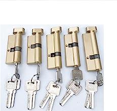 Euro cilinderslot Aangepaste excentrieke kern 70 75 80 85 90 95mm lock gouden beddeur cilinder pure messing deurslot verle...