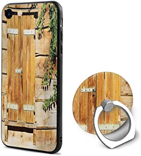 Shutters iPhone 6/iPhone 6s Cases,Facade of an Old Building Wooden Shutters Traditional House Summer Plants Nature Beige Green,Design Mobile Phone Shell Ring Bracket