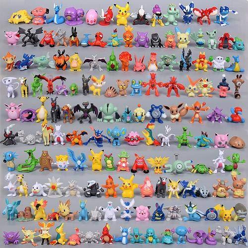 144 pcs muñecas Pokemon bolsillo lindas Mini figuras 2-3 cm figuras de juguete para decoración de oficina de coche decoración de tarta