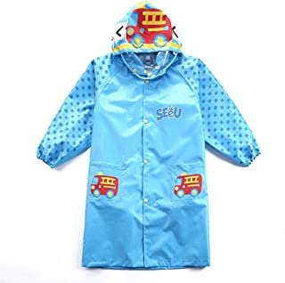 LHY- Raincoat S/M/L/XL Children's raincoat Thickening Breathable odorless Boys and Girls raincoat Convenient (Color : Blue, Size : M)