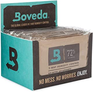 Boveda for Cigars/Tobacco | 72% RH 2-Way Humidity Control | Size 60 for Use with Every 25 Cigars a Humidor Can Hold | Pate...