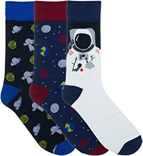 Men's 3 Pair Fun Dress Socks - Saint Yuma - Cotton
