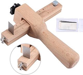 OUKANING Emparejador manual peladora de cuero divisor de cuero rebanadas m/áquina de piel